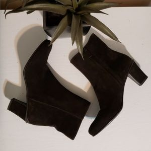 Prada dark brown suede ankle booties sz 6